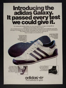 1979 Adidas Galaxy Running Shoes Vintage Print Ad Ebay
