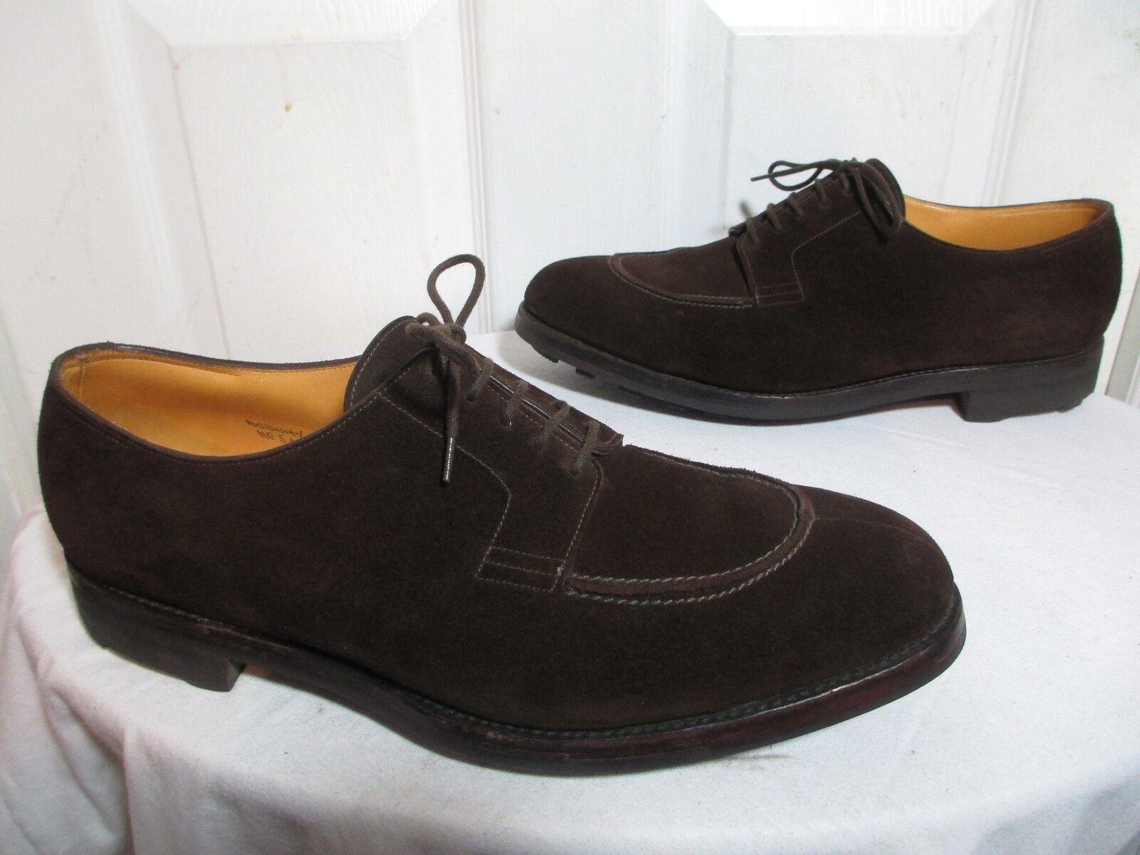 nelle promozioni dello stadio JOHN LOBB 'NORWAY' MEN'S MEN'S MEN'S SUEDE LEATHER SPLIT TOE RIDGEWAY SOLE DERBY scarpe 11E  rivenditori online