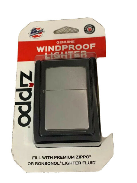 New ZIPPO Genuine Windproof Lighter 207 Regular Street Chrome Made in the USA