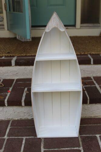 "26/"" New 3 Shelf Beach Nautical Boat White Distressed Wood Craft Coastal Project"