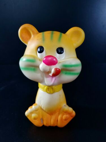 Choice of Vintage Rubber Squeaky Toy Elephant Bear Kitten Tiger Dog Rabbit