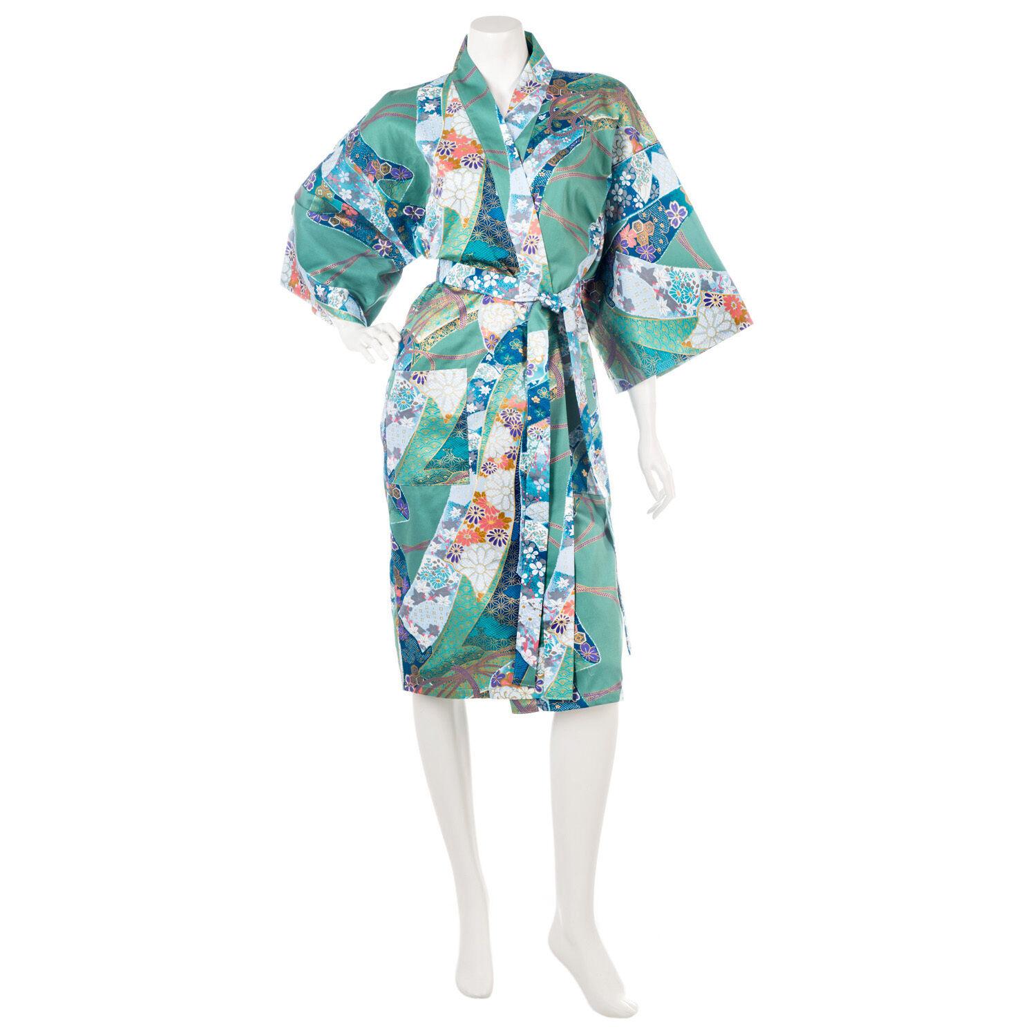 Grün Schleife Shorts Japanisch Baumwolle Yukata