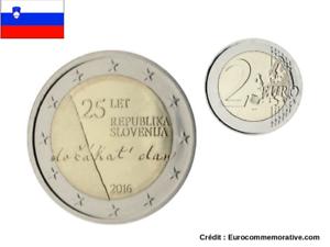 2 Euros Commémorative Slovénie 2016 République UNC