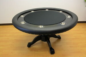 Mrc Poker Table The Mystic Round Table Solid Wood Legs Ebay