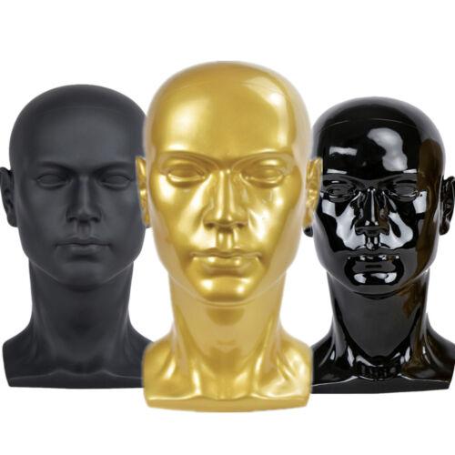 Männlich 52cm Modellkopf PVC Perückenkopf Dekokopf Mannequin Kopf Hüte Brille