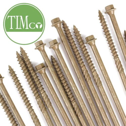 TIMCO HEAVY DUTY TIMBER SCREWS 20 PACK Fastener Fixing Exterior 6.7mm x 200mm