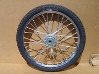 Pair Horse Cart Wheels/tires 20x2.125/5/8axle, 3hub