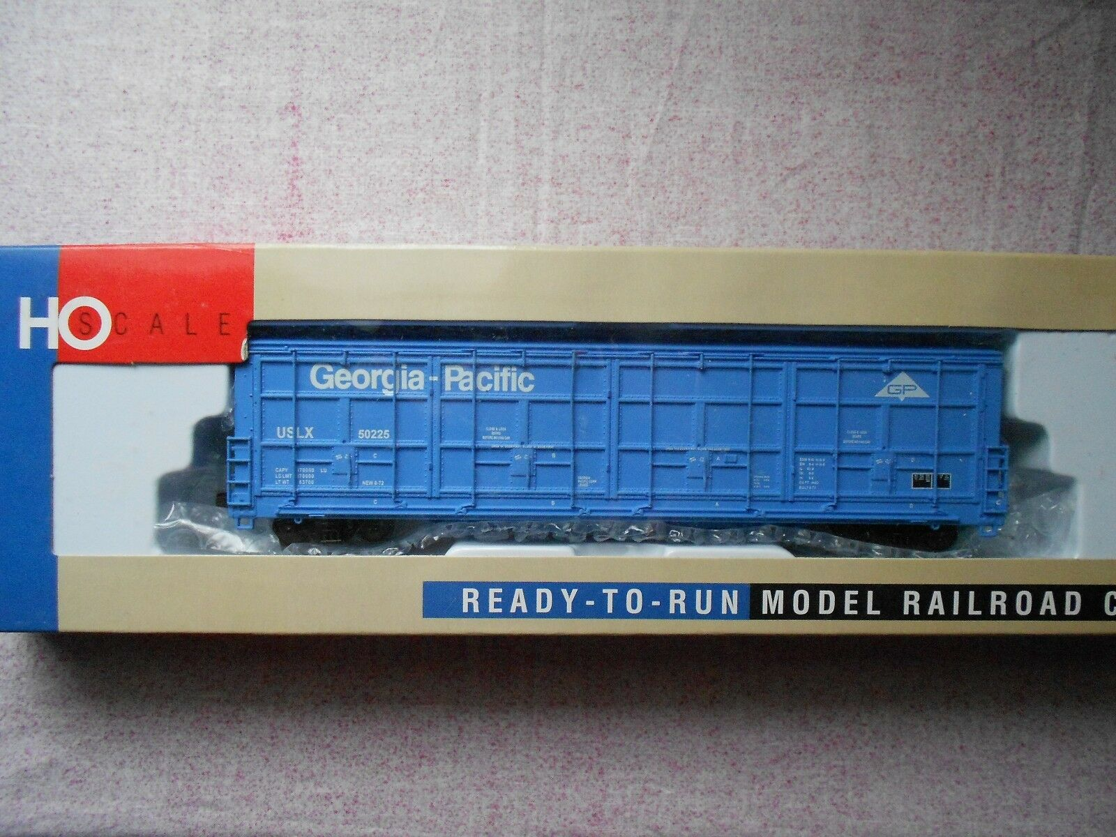 WALTHERS THRALL DOOR BOX CAR HO GAUGE GEORGIA PACIFIC USLX 50225 NIB