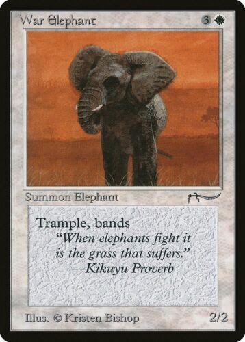 War Elephant Arabian Nights PLD White Common MAGIC MTG CARD ABUGames a Dark