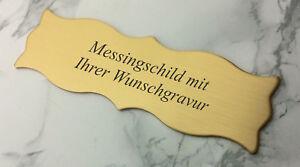 MESSINGSCHILD-Tuerschild-125x40mm-mit-Klebestreifen-mit-Ihrer-WUNSCHGRAVUR