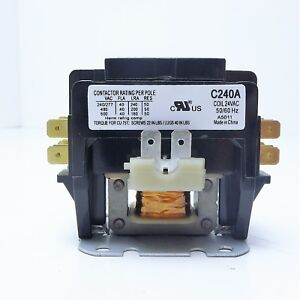 Packard definite purpose contactor 2 pole 40a coil voltage 208 240 simple contactor wiring image is loading packard definite purpose contactor 2 pole 40a coil