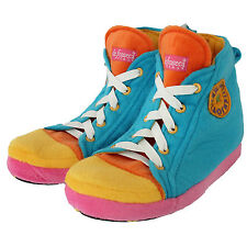 be1c34a3305 Childrens Kids Chuck Taylor Style Converze Novelty Slippers High Top Neon  UK 9-2