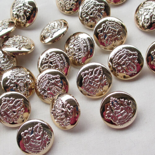 New 50pcs Rose Gold Plastic Buttons 22mm Sewing Craft T0865