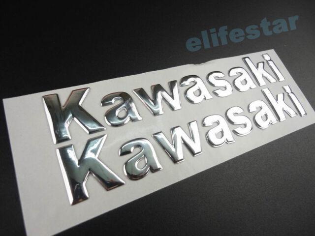 Motorcycle Chrome 3D Fuel Tank Fairing Body Emblem Decal Sticker For Kawasaki