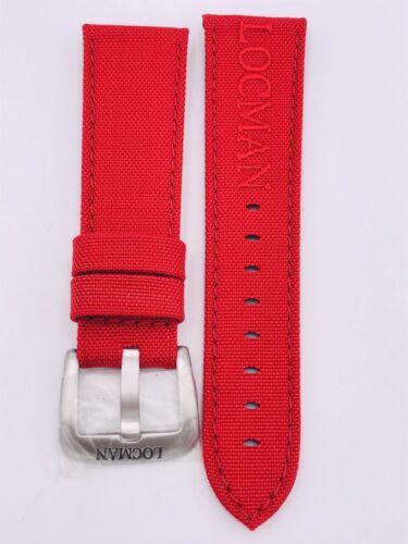 Cinturino Locman Mare 24/25mm Cordura Rossa Scontatissimo Nuovo