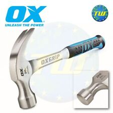 OX Tools Pro 20oz Claw Hammer 1-Piece Solid Forged Steel & Non Slip Grip P080120