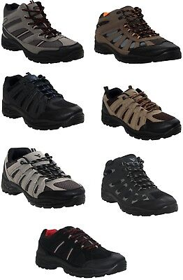 Mens Lace Up Hiking Walking Comfort Trainers Trek & Trail Work Ankle Boots Shoes Starke Verpackung