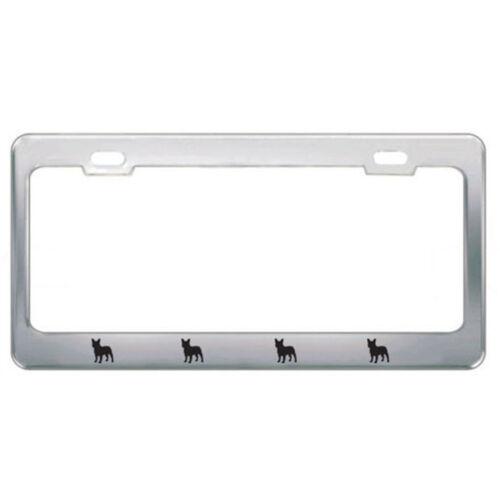 Companion Dog Pet French Bulldog Steel Metal License Plate Frame