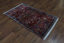 3X6 Unique Medium Floral Red Mashad Persian Rug Oriental Area Carpet 3'3X5'7