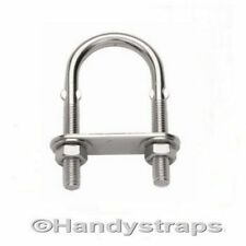 10mm x 130mm U BOLT & PLATE Stainless Steel Marine for 40mm pipe