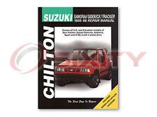 Suzuki Sidekick Chilton Repair Manual JL JX Sport JS JLX JA Shop Service fu