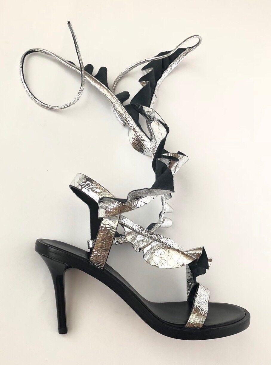 Isabel Marant Women Shoes Size 36 36 Size NIB Metallic Leather Sandals Heels 89a97a
