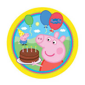 Magnificent Peppa Pig Edible Kids Birthday Cake Icing Sheet Topper Decoration Birthday Cards Printable Trancafe Filternl