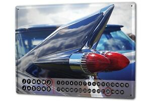 Perpetual-Calendar-Garage-Tail-fin-Tin-Metal-Magnetic
