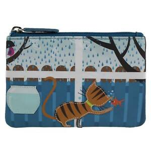 Ladies-Leather-Ginger-Tabby-Cat-Coin-Purse-by-Mala-Zipped-Handy