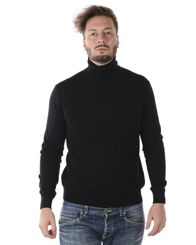 Maglia Maglione Emporio Armani Armani Armani Sweater Pullover Lana Uomo Nero 8N1MYZ1M4CZ 999 5b46e7
