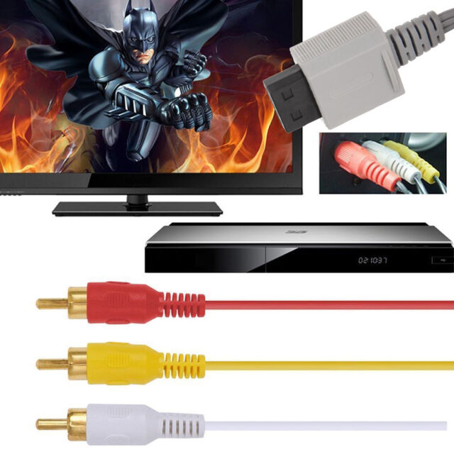 6FT/1.8m Audio Video AV Composite 3 RCA Cable TV Cord Connector for Nintendo Wii