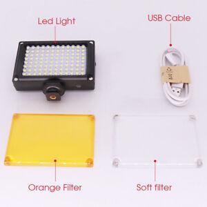 Panel-de-luz-LED-de-calidad-96-112-Camara-Regulable-Iluminacion-Lampara-de-video-con-zapata