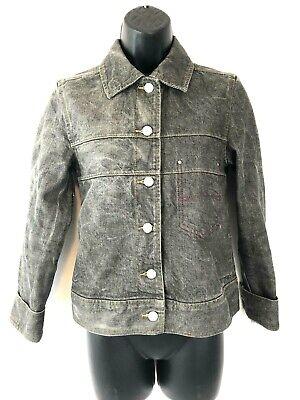 90s Esprit Lime Check Denim Jacket Chartreuse Vintage Spring Jacket