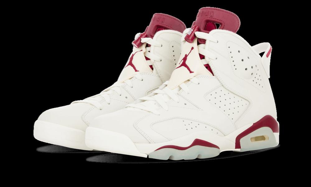Nike Air Jordan Retro VI 6 MAROON OFF blanc 384664-116  Chaussures de sport pour hommes et femmes