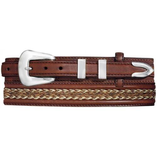 Tony Lama Men/'s Brown Don Diego Ranger Leather Belt 7937L