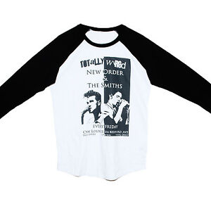 cd88e65794be THE SMITHS/ NEW ORDER T SHIRT Raglan 3/4 Sleeve Indie Rock Band ...