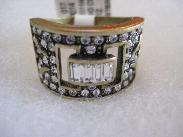 HEIDI DAUS  Eternal Beauty  (Clear-Crystalled) Size 12 Ring (Orig. 59.95)