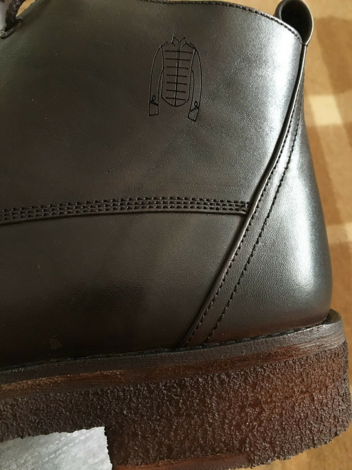 Frank Wright - Chestnut 'Russell' matt leather lace up Stiefel Stiefel Stiefel - Größe 11 e16489