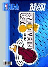 "Miami Heat 2013 Champions 6"" Vinyl Die Cut Decal Sticker Basketball Championship"
