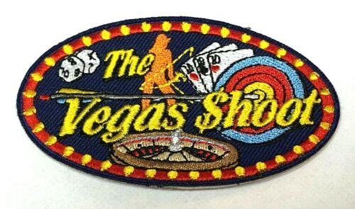 Undated THE VEGAS SHOOT Official NFAA Archery Patch 3 Spot Target Star Indoor