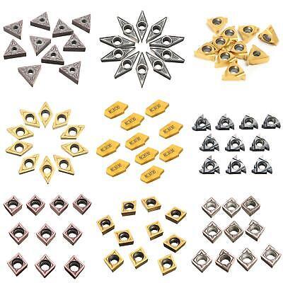 10pcs CNC Carbide Tips Inserts Blade Cutter Lathe Turning Boring Bar Tool Lathe