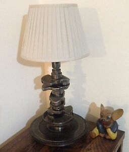 Crankshaft industrial table lamp