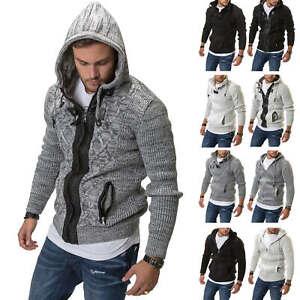 Hachiro-Messieurs-tricot-veste-veste-capuche-tricot-pull-Pull-Mailles-SALE