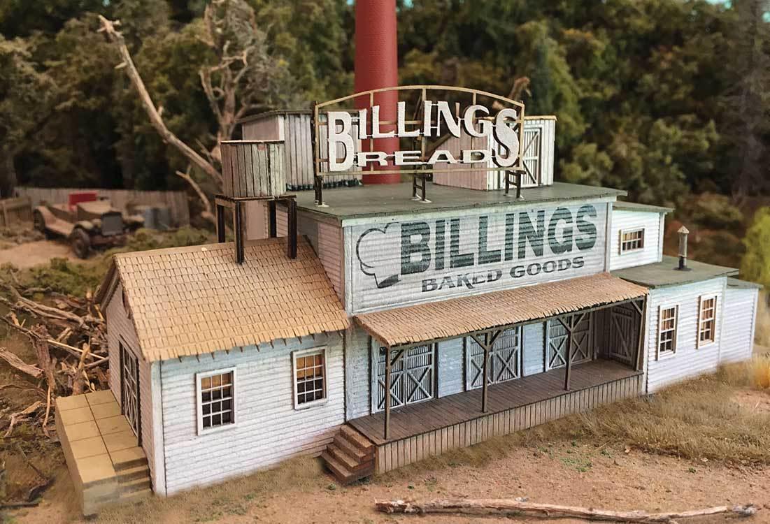 BAR MILLS costruzioneS 171 N Scale Billing's Bakery Laser Cut modello Railstradaing