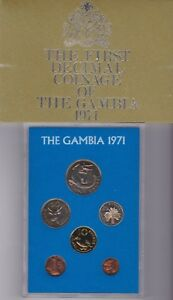 1971 Proof Coinage Of Gambia 6 Coin Year Set Sealed