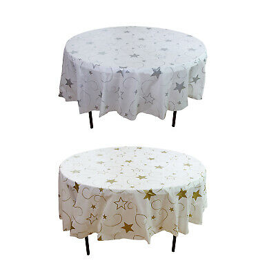 12 Plastic Party Table Cover 84 Round, Round Table Cover Plastic