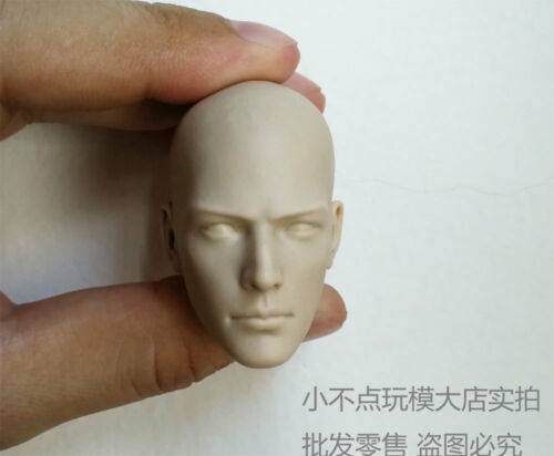 Free Shipping 1//6 scale Head Sculpt holy man monk Sh unpainted open eyes version