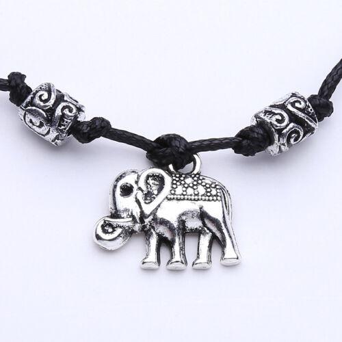 Ankle Bracelet Moon Elephant Moon Corded Wrist Anklet Hippy Vibe Bohemian