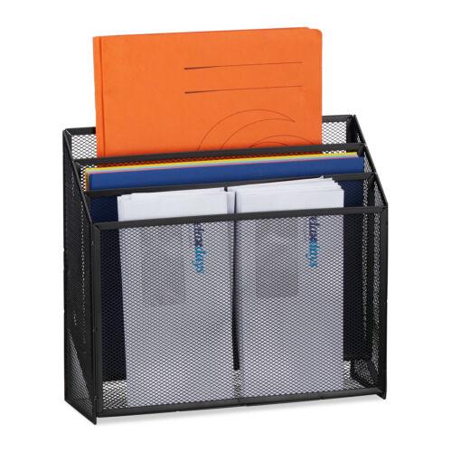 Dokumentenhalter Briefhalter Metall 3 Ablagen Schreibtisch Büro Magazinständer