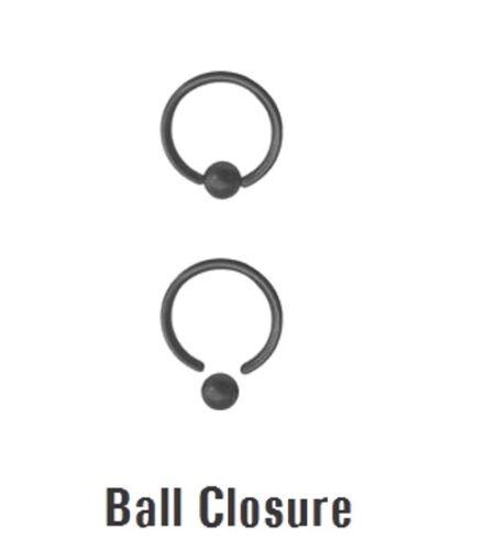 20g 2g Titan Ip Stahl Ball Closure Ring Nase Ohrring Knorpel 2 Stk